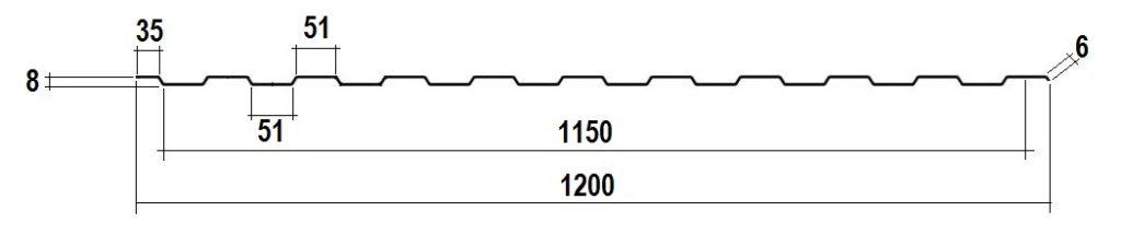 Профнастил для фасада ПС-10