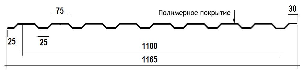 Профнастил для забора ПС-20