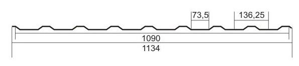 Профнастил ПК-20 (кровельный)