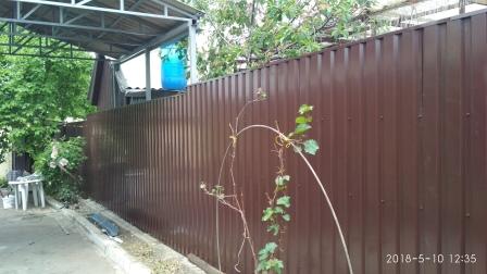 Забор из профнастила ПС-20