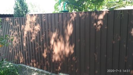 Забор из профнастила ПС20 матовый