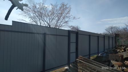 Забор из профнастила ПС-8