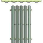 Односторонний вариант укладки металлического штакетника